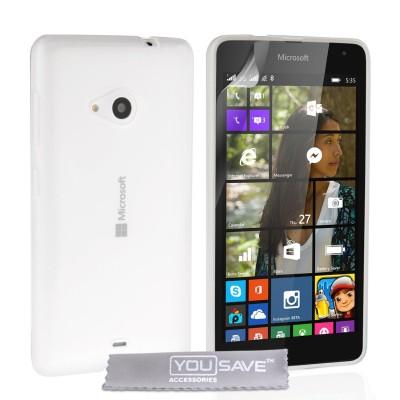 Θήκη σιλικόνης για Microsoft Lumia 535 ημιδιάφανη