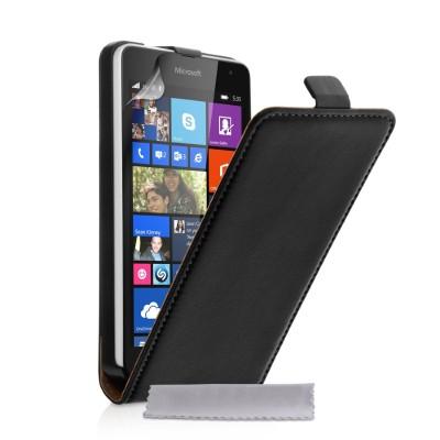 Δερμάτινη θήκη για Microsoft Lumia 535 μαύρη