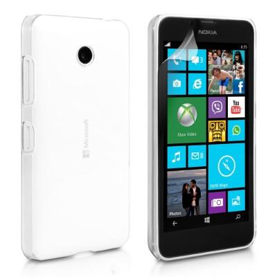 Θήκη σιλικόνης για Microsoft Lumia 532 διάφανη