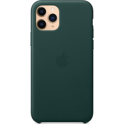 Official Apple Leather Case - Δερμάτινη Θήκη Apple iPhone 11 Pro - Forest Green (MWYC2ZM/A)