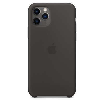 Official Apple Silicon Cover - Θήκη Σιλικόνης iPhone 11 Pro - Black (MWYN2ZM/A)