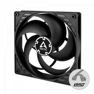Arctic F14 PWM PST (black) - 140mm case fan with PWM control and PST cable