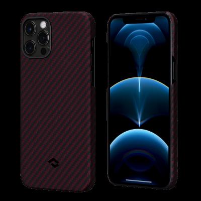 Pitaka MagEz Case - Θήκη Aramid Fiber Body Apple iPhone 12  - Black / Red Twill (KI1203M)