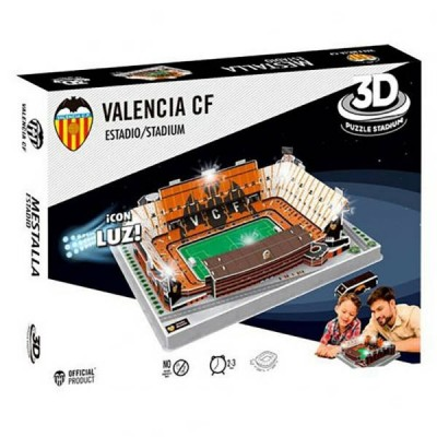 3D Puzzle Γήπεδο Valencia Mestalla με LED φωτισμό 87 τεμ. - (100-100-987)