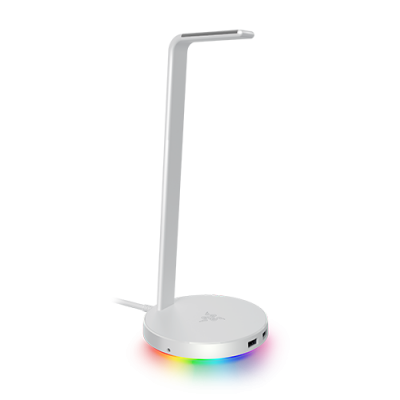Razer BASE STATION V2 MERCURY Chroma - Chroma Enabled Headset Stand with USB 3.1 Hub