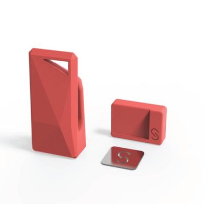 Stikey σε κόκκινο χρώμα - Ολοκληρωμένο Kit στήριξης για όλα τα smartphones