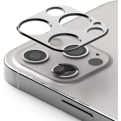 Ringke Camera Styling Screen Protector - Μεταλλικό Κάλυμμα Κάμερας iPhone 12 Pro Max - Silver (76894)