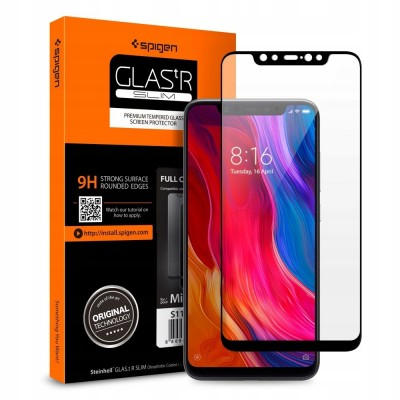 Spigen® GLAS.tR™ Full Cover HD Xiaomi Mi 8 Premium Tempered Glass (S11GL24508)