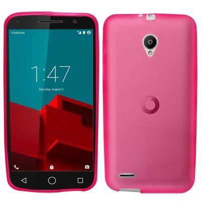 Θήκη σιλικόνης για Vodafone Smart Prime 6 ημιδιάφανη ροζ
