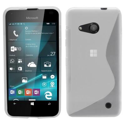 Θήκη σιλικόνης για Microsoft Lumia 550 ημιδιάφανη