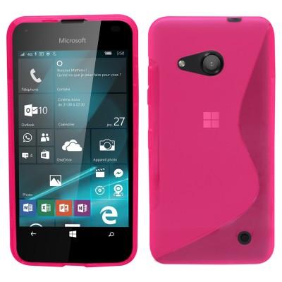 Θήκη σιλικόνης για Microsoft Lumia 550 ροζ