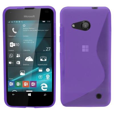 Θήκη σιλικόνης για Microsoft Lumia 550 μωβ