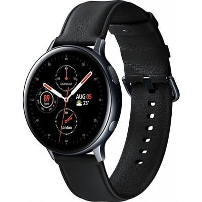 Samsung Galaxy Watch Active 2 44mm - Stainless Steel - Black - 2 Έτη Εγγύηση (SM-R820NSKAEUR)