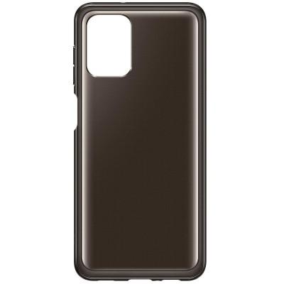 Samsung Official Θήκη Σιλικόνης Soft Clear Cover Samsung Galaxy A12 - Black (EF-QA125TBEGEU)