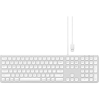 Satechi Aluminum Wired Keyboard για Mac - Ενσύρματο Πληκτρολόγιο Αλουμινίου - Silver (ST-AMWKS)