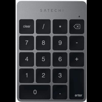 Satechi Aluminum Slim Rechargeable Bluetooth Keypad - Επαναφορτιζόμενο Αριθμητικό Πληκτρολόγιο Αλουμινίου Bluetooth - Space Gray (ST-SALKPM)