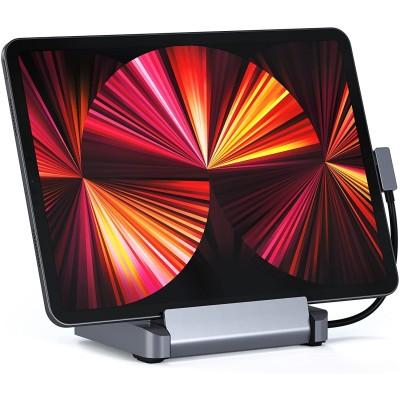 Satechi Aluminum Stand Hub για iPad - Βάση / Αντάπτορας με 1 x USB-A 3.0 / 1 x Type-C / 1 x HDMI 4K / 1 x 3.5mm Jack (female) / 1 x SD & Micro SD (ST-TCSHIPM)