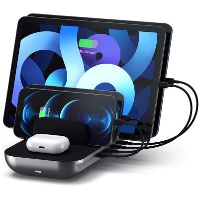 Satechi Dock5 Multi-Device Charging / Wireless Station - Βάση Ασύρματης & Ενσύρματης Φόρτισης - Space Grey