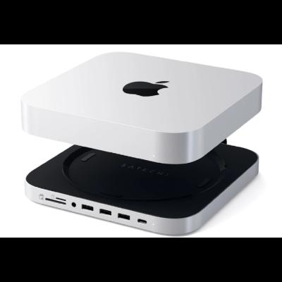 Satechi Stand Hub για M1 Mac Mini με Θήκη για SSD SATA S.2 Εξωτερικό Σκληρό Δίσκο - Με Θύρες 1 x Type-C / 3 x USB-A / 1 x 3.5mm Jack / 1 x SD & Micro SD (ST-MMSHS)