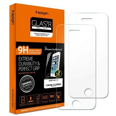 Spigen iPhone 5/5s/SE Screen Protector GLAS.tR 2-Pack (SGP10111)