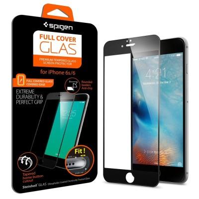 Spigen iPhone 6 / 6s Screen Protector FC Glass Black (SGP11589)