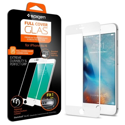 Spigen iPhone 6 / 6s Screen Protector FC Glass White (SGP11590)