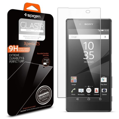 Spigen Xperia Z5 Tempered Glass Screen Protector