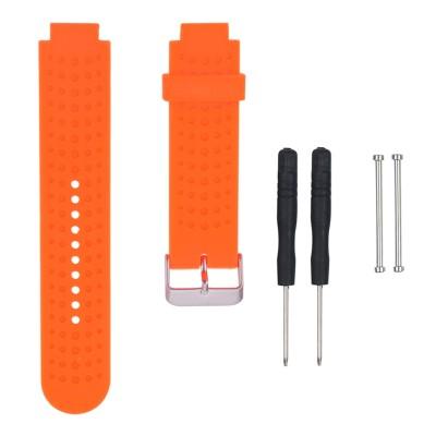 Πορτοκαλί λουράκι σιλικόνης για Garmin Forerunner 230/235/630/220/620/735 - OEM