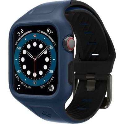 Spigen Liquid Air Pro Θήκη Σιλικόνης Apple Watch SE/6/5/4 (44mm) - Blue (ACS02225)