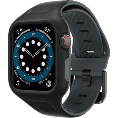Spigen Liquid Air Pro Θήκη Σιλικόνης Apple Watch SE/6/5/4 (40mm) - Black (AMP02020)