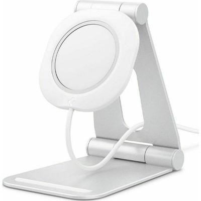 Spigen Mag Fit S Stand - Βάση Αλουμινίου για τον Ασύρματο Φορτιστή MagSafe - White (AMP02673)