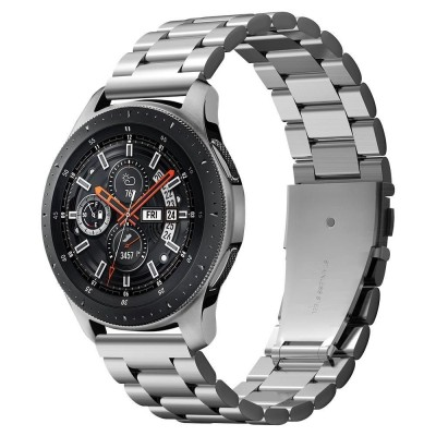 Spigen Modern Fit Μεταλλικό Λουράκι Galaxy Watch 46mm - Silver (600WB24981)