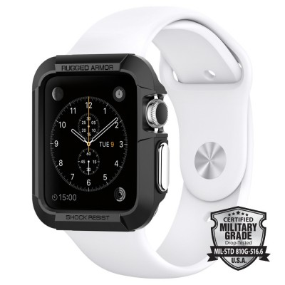 Spigen Apple Watch 38mm Case Rugged Armor Black (SGP11485)