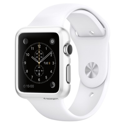 Spigen Apple Watch 38mm Case Thin Fit Smooth White (SGP11488)