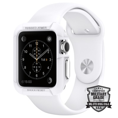 Spigen Apple Watch 42mm Case Rugged Armor White (SGP11497)
