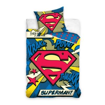 Superman μονό σετ παπλωματoθήκης 200x140- Επίσημο προϊόν