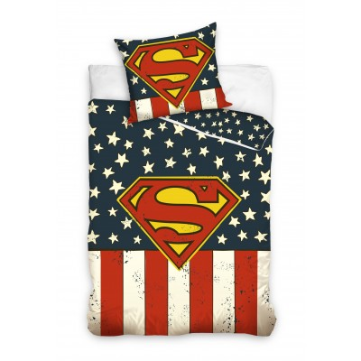 Superman μονό σετ παπλωματοθήκης Σχέδιο Ρετρό 200 x 140 Επίσημο προϊόν
