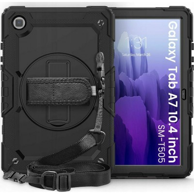 """Tech-Protect Ανθεκτική Θήκη Solid 360 με Λαβή / Backstand / Ζώνη Μεταφοράς - Samsung Galaxy Tab A7 10.4"""" T500 / T505 - Black (76909)"""