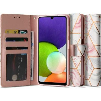 Tech-Protect Θήκη Πορτοφόλι Samsung Galaxy A22 5G - Marble (6216990212734)