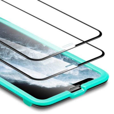 (2-Pack) ESR Premium Quality Full Cover Tempered Glass iPhone 11 Pro Max (With Easy Installation Frame)