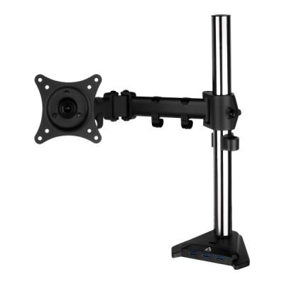 Arctic Z1 Pro Gen 3 (Matt black coating) - Monitor Arm with 4 ports USB 3.0 hub with Mini-USB power