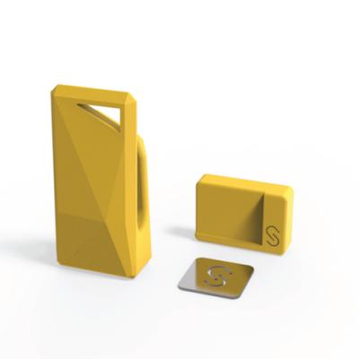 Stikey σε κίτρινο χρώμα - Ολοκληρωμένο Kit στήριξης για όλα τα smartphones