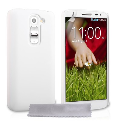 Θήκη για LG G2 mini λευκή ultra slim by YouSave Accessories και  screen protector