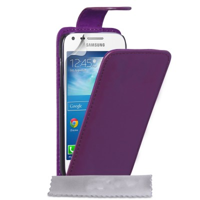 Θήκη για Samsung Galaxy Core Plus by YouSave Accessories μωβ  και δώρο screen protector