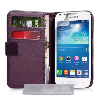 Θήκη- Πορτοφόλι για Samsung Galaxy Core Plus by YouSave Accessories μώβ  και δώρο screen protector
