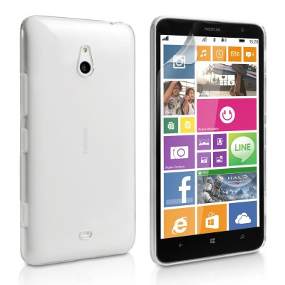Θήκη για Nokia Lumia 1320 by YouSave Accessories διάφανη  και δώρο screen protector