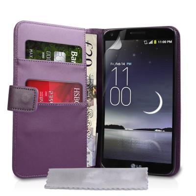 Θήκη- Πορτοφόλι για LG G Flex  by YouSave Accessories μώβ  και δώρο screen protector