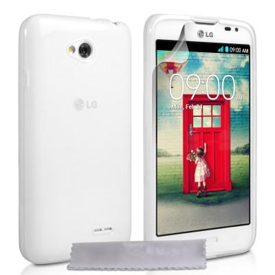 Θήκη σιλικόνης για LG L70 διάφανη by YouSave Accessories και  screen protector