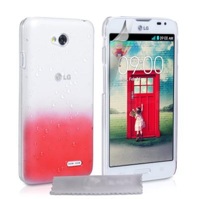 Θήκη για LG L70  by YouSave Accessories κόκκινη  και δώρο screen protector