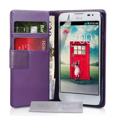 Θήκη- Πορτοφόλι για LG L70  by YouSave Accessories μωβ  και δώρο screen protector
